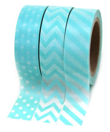 Another great find on #zulily! Diamond Blue Washi Tape Party Set #zulilyfinds