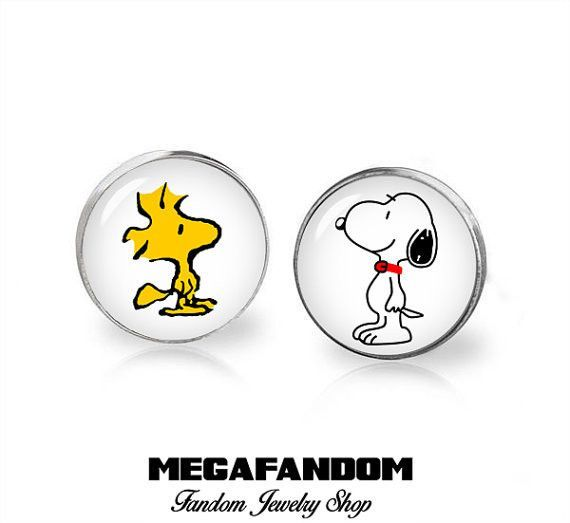 Charlie Brown Character Logo Glass Domed Cufflinks