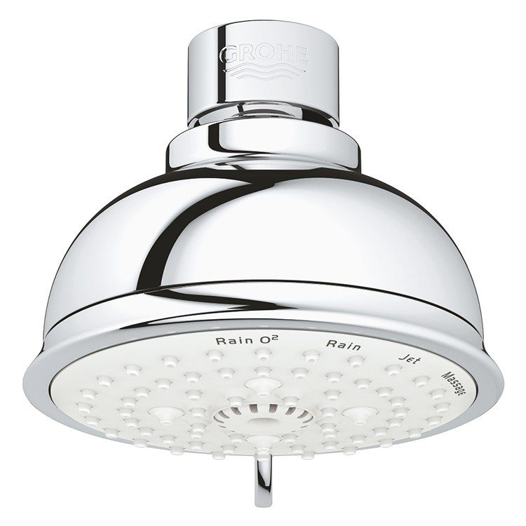 Grohe 27610001 New Tempesta Rustic 100 Four Function Shower Head