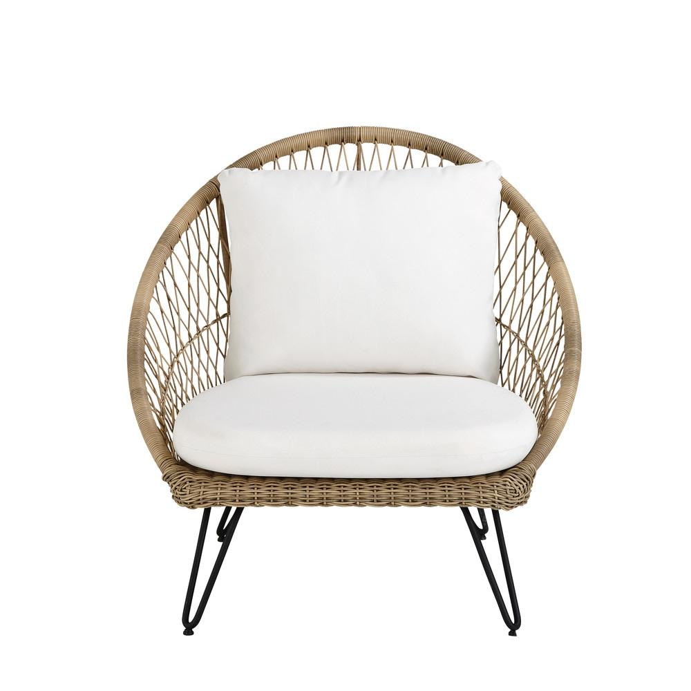 Fauteuil De Jardin En Resine Tressee Wicker Sofa Outdoor Armchair Wicker Headboard