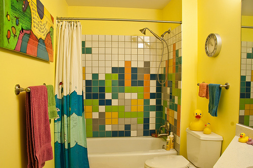Tetris shower