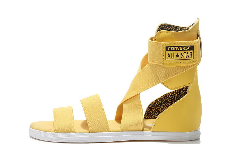 92306cd126b0 Yellow High All Star Converse Chuck Taylor Elastic Band Roman Sandals   converse  shoes