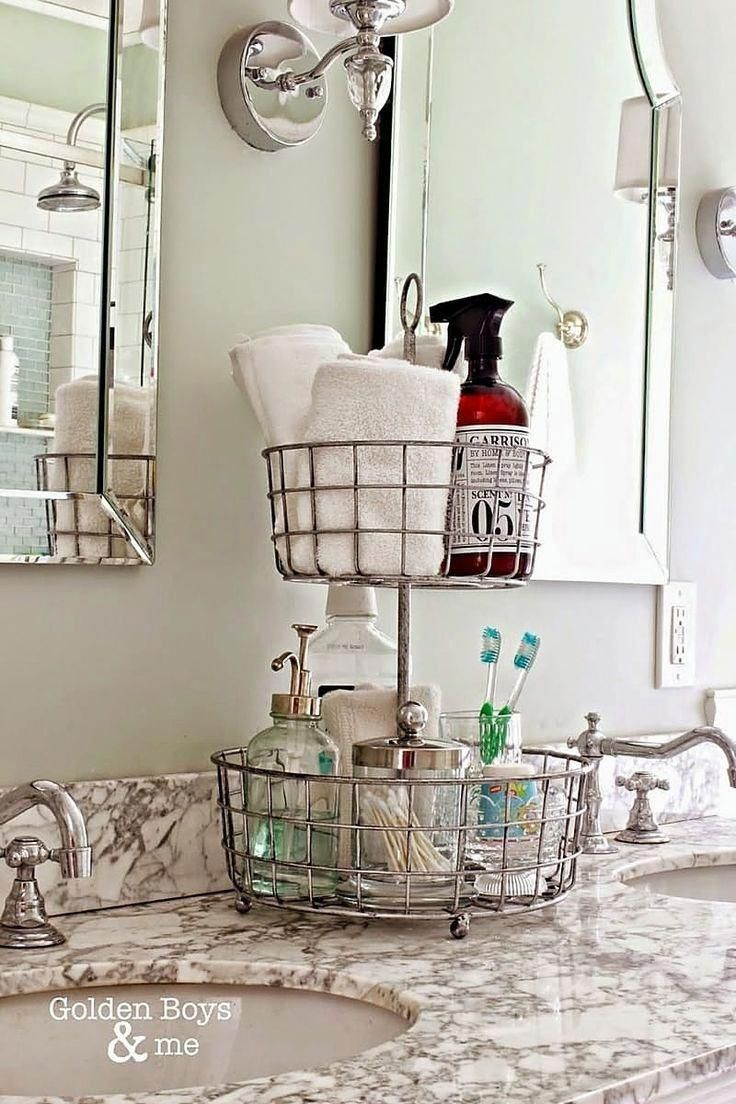 7 Ways to Organize a Bathroom Without a Medicine Cabinet or Drawers #organizemedicinecabinets 7 Ways to Organize a Bathroom Without a Medicine Cabinet or Drawers | Apartment Therapy #Bathroomideas #organizemedicinecabinets