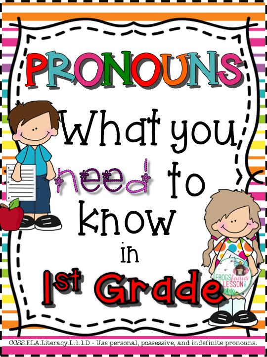 Pronouns 1st Grade First grade writing, 1st grade