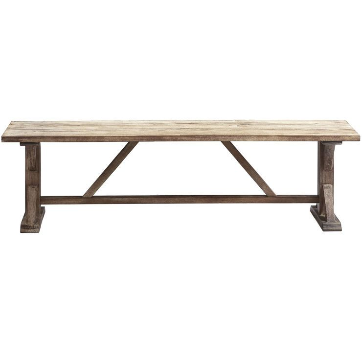 Admirable Camden Wood Trestle Bench 66 In Bathrooms Bench Machost Co Dining Chair Design Ideas Machostcouk
