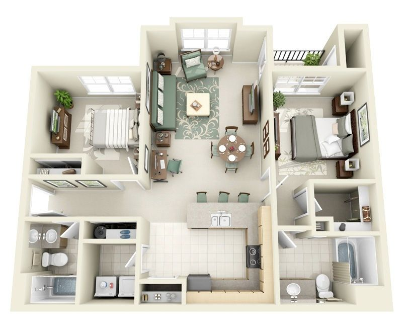 13++ Apartments with 2 master bedrooms near me image popular