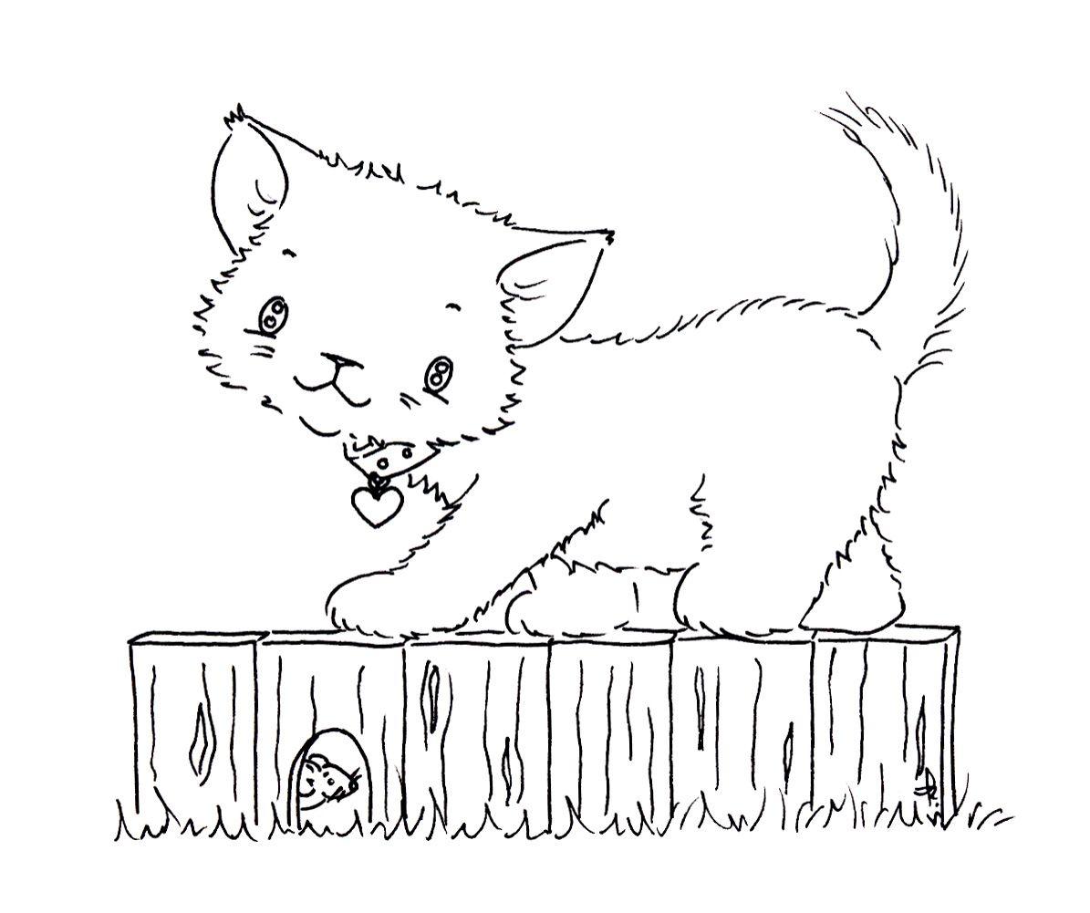 Sliekje digi Stamps: Kitten