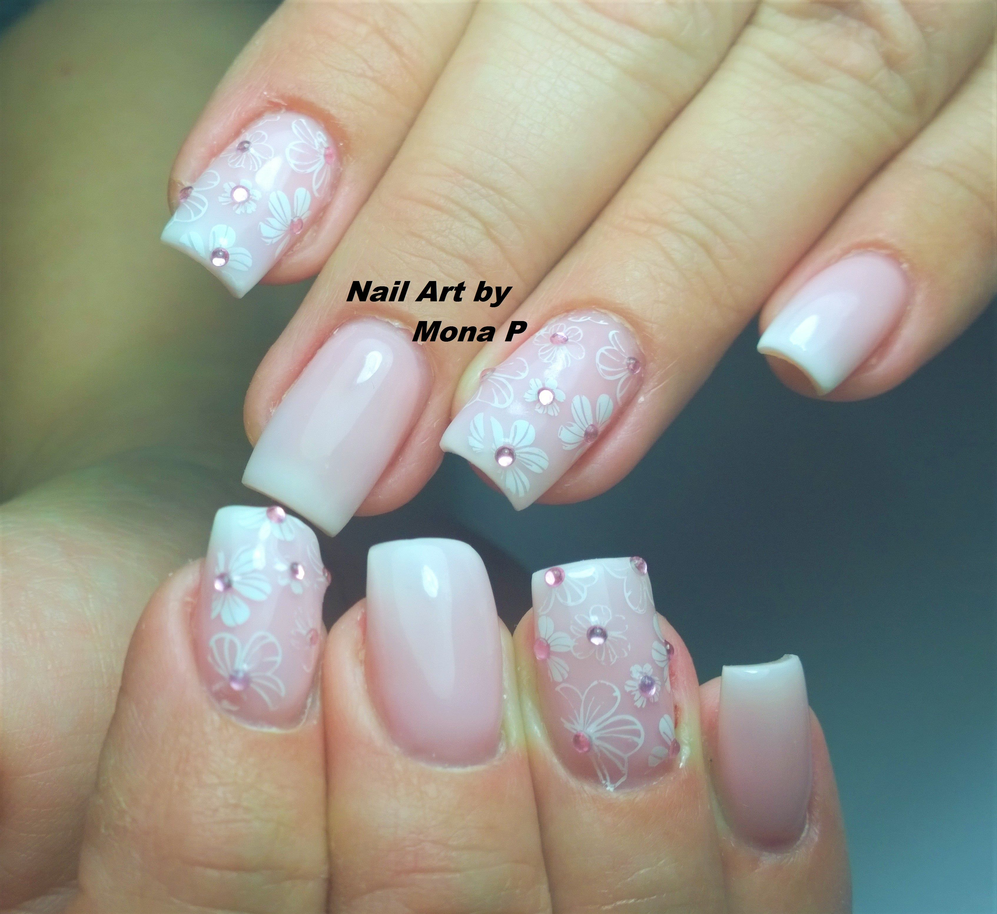About baby boomer nail art tutorial by nded on pinterest nail art - Baby Boomer Nail Art Nail Art By Mona P Pinterest Nail Nail Art Baby