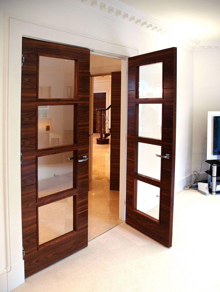 Bifold French Doors Home Design Ideas Pictures Remodel: Walnut Doors, Grey Interior Doors, Double Doors