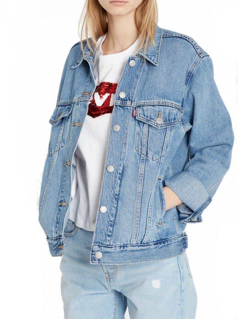 Femme Casual Slim Fit Denim Veste Manches Longues Manteau en Jean Boyfriend Style Jeans Veste