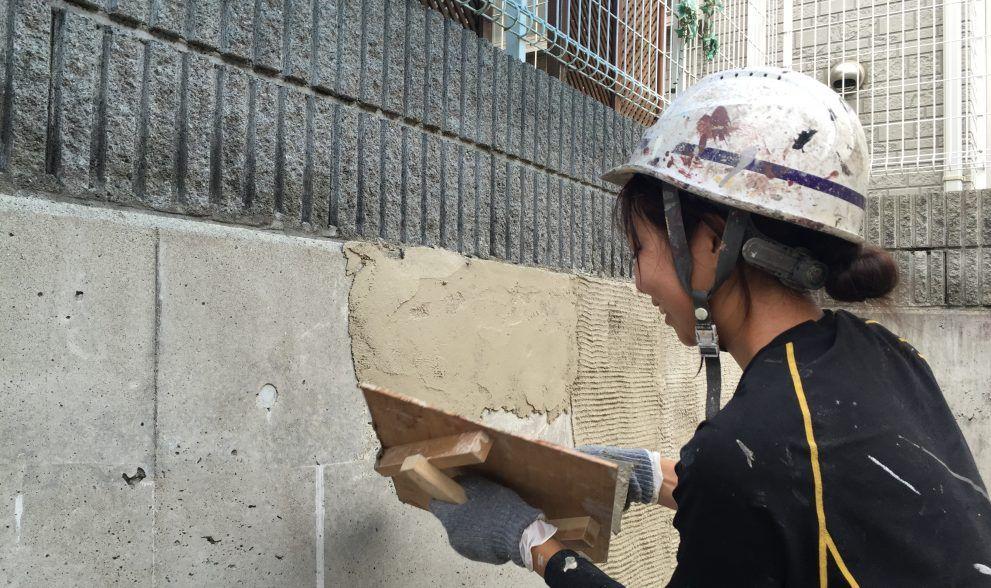 地味なブロック塀をジョリパットでおしゃれに変身 Diy塗装の方法
