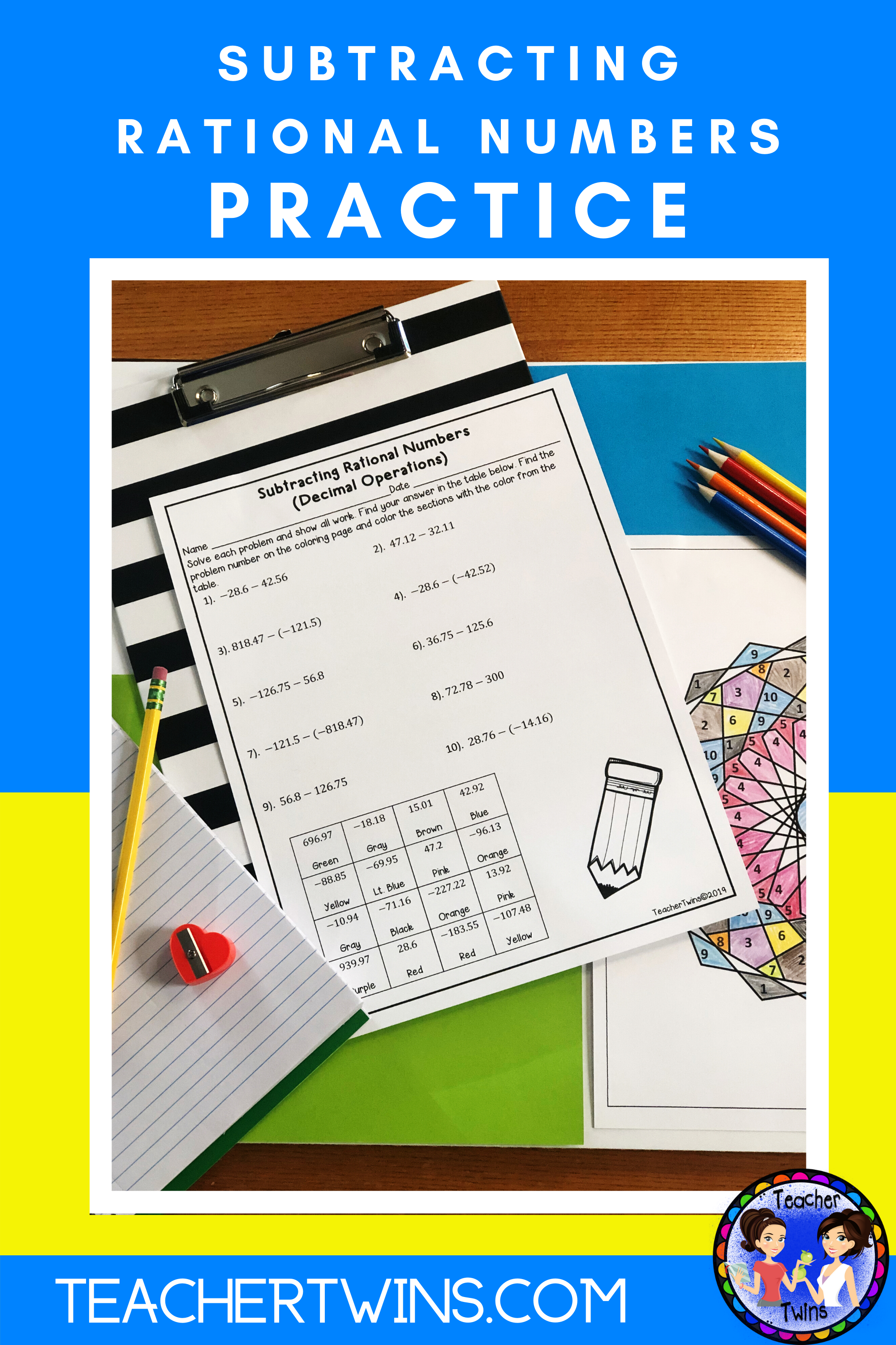 Subtracting Rational Numbers With Decimal Operations