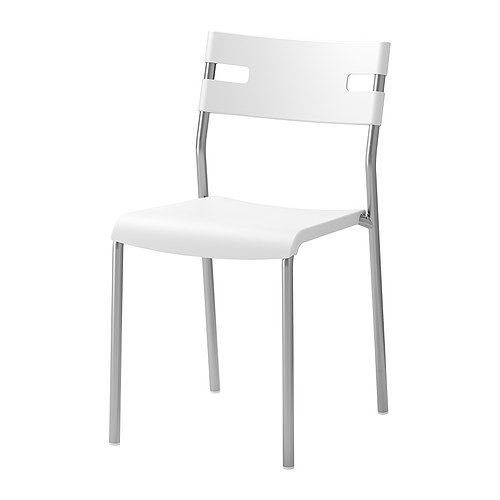 Ikea White Dining Chair: Ikea LAVER Chair - White £8.00
