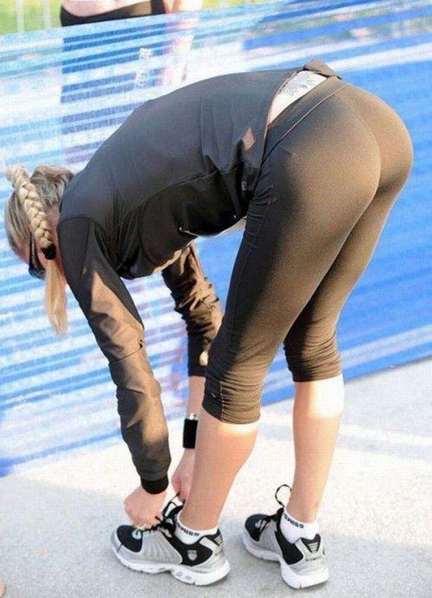 Sexy girls tight yoga pants