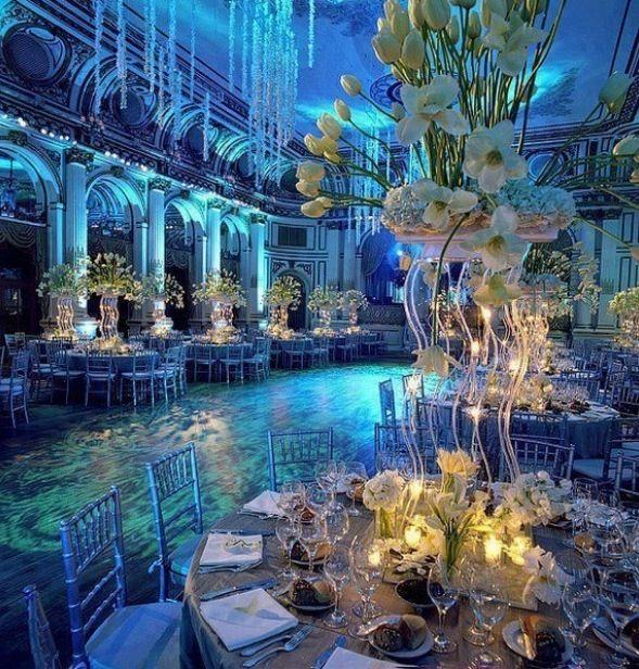 """Under the Sea"" wedding theme"