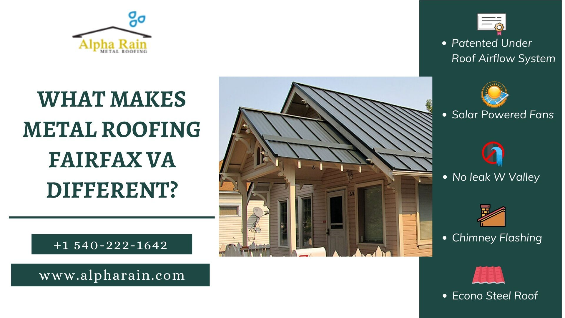 The Roofing Contractor In Fairfax Va Installs Its Patented Metal Roofing System That Is Highly Durable And Cap In 2020 Metal Roof Metal Roofing Systems Roofing Systems