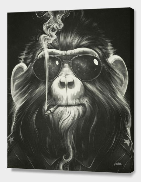 """Smoke 'em if you got 'em"", Numbered Edition Canvas Print by Dr. Lukas Brezak - From $89.00 - Curioos"
