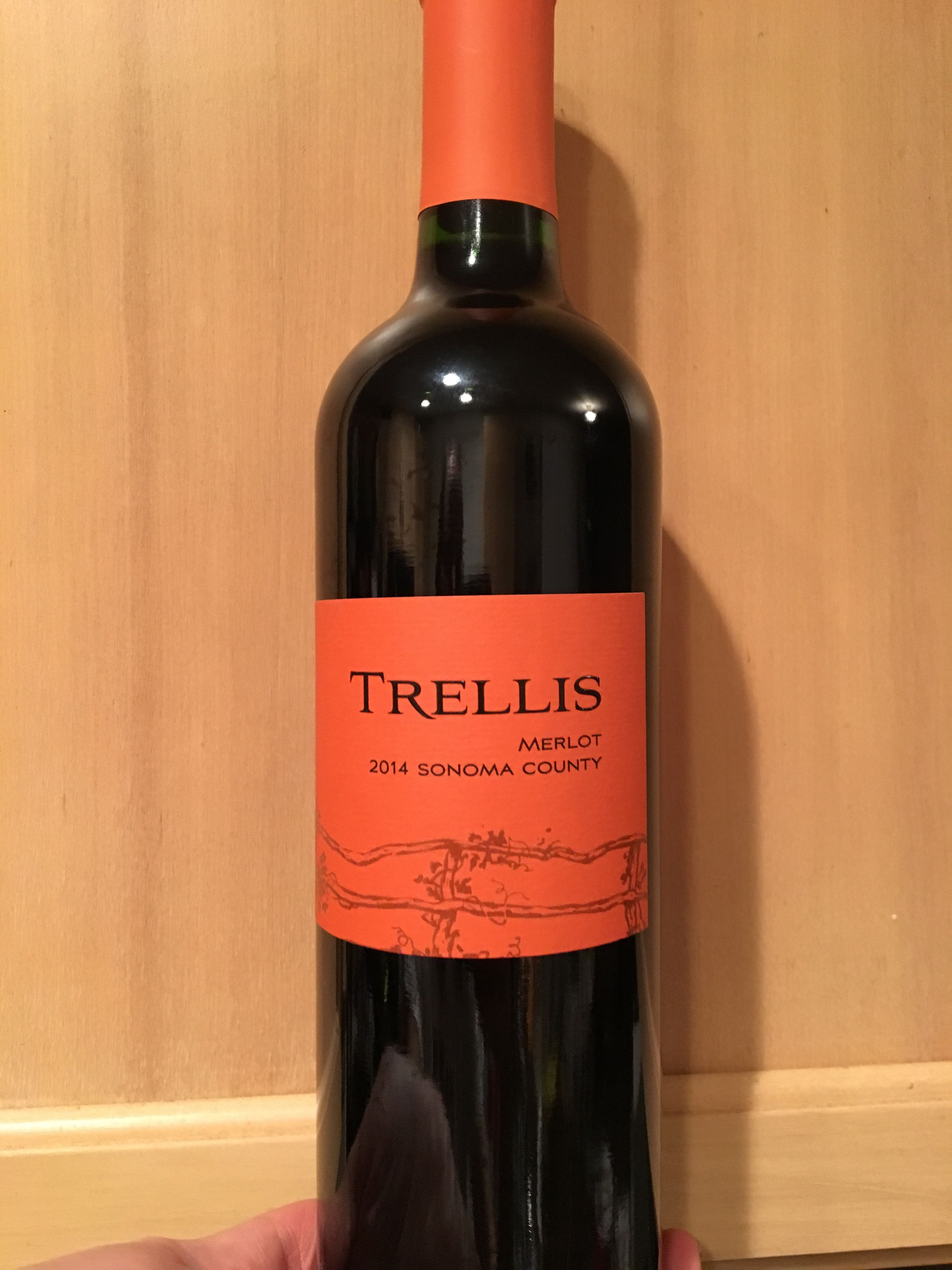 Trellis Merlot 2014 Sonoma County Ca Rich Black Cherry Fruit With An Elegant And Well Rounded Finish Black Cherry Fruit Trellis Wine Bottle