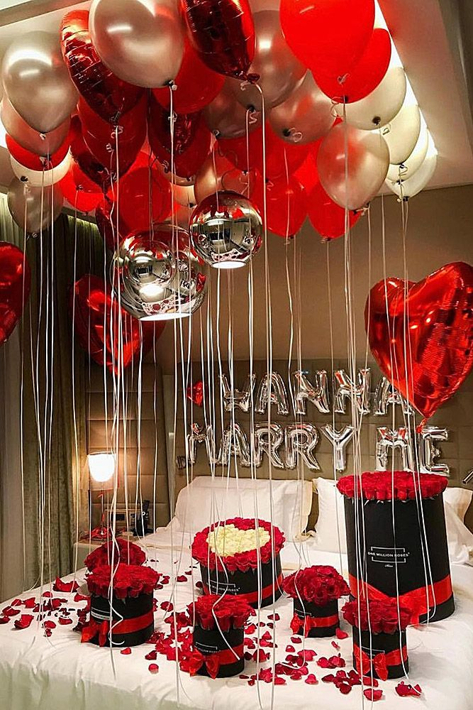 Romantic Room Decoration: 21 So Sweet Valentines Day Proposal Ideas
