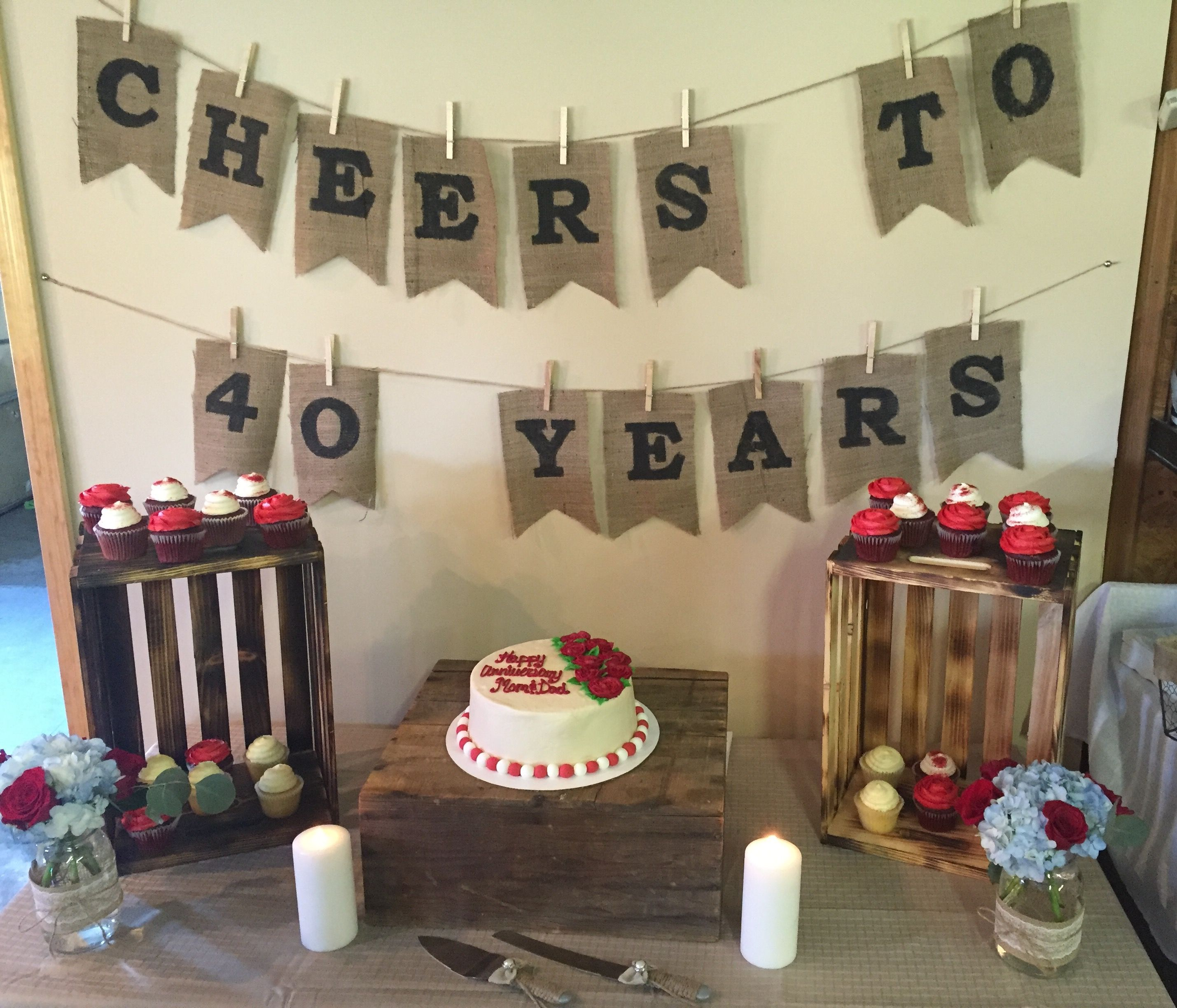 th wedding anniversary for mom and dad  parties  Pinterest
