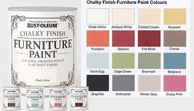 Details About Rust Oleum Chalk Chalky Furniture Paint 750ml