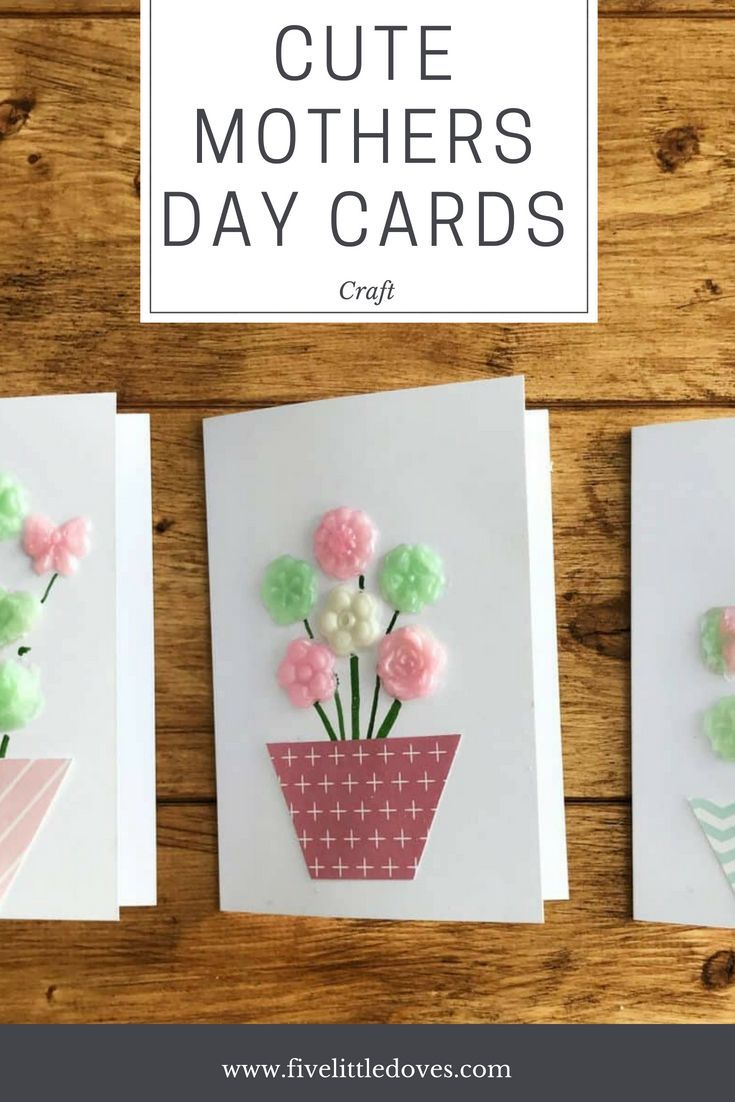 Making Mothers Day Cards with Gel a Peel   Five Little Doves ...