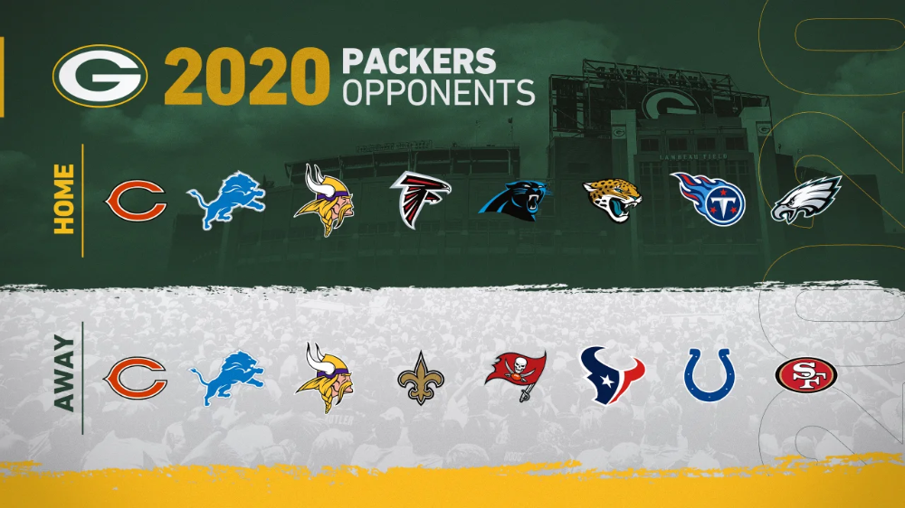 Packers 2020 Schedule To Be Announced Thursday In 2020 Packers Nfc East Nfc South