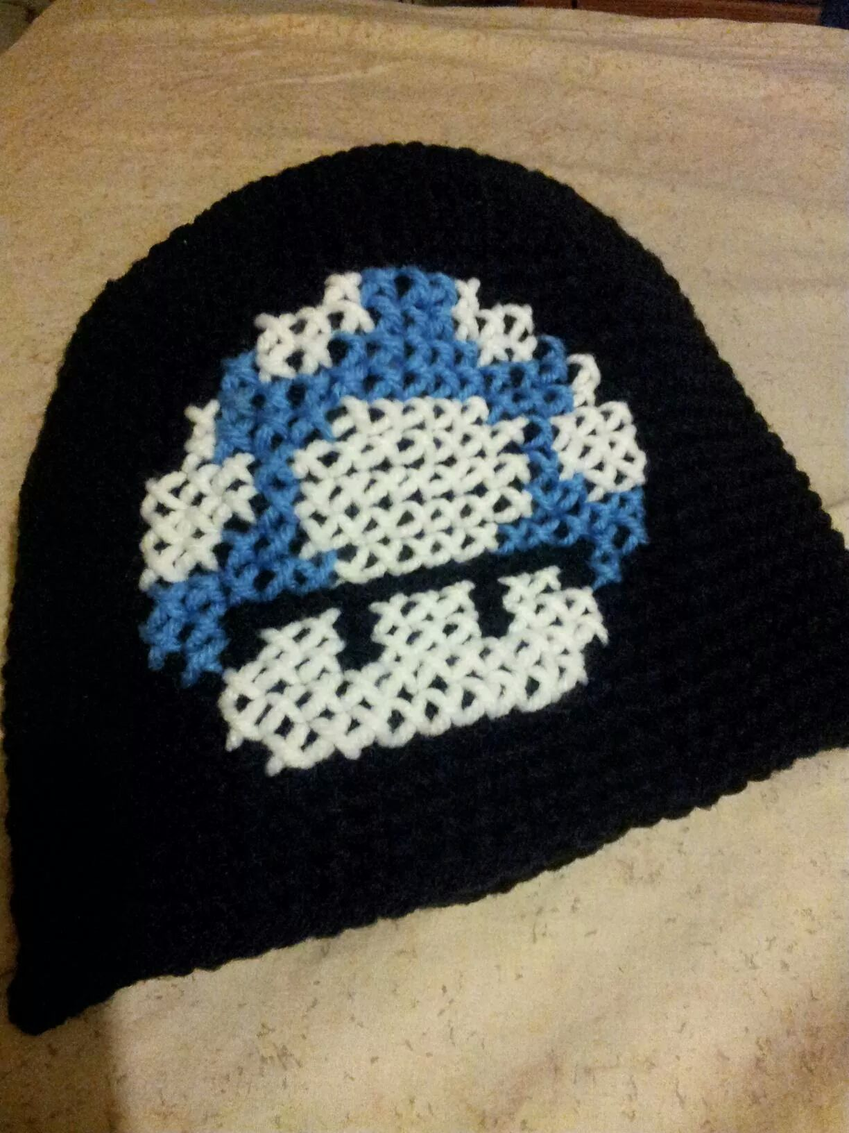 Mario bros inspired beanie i made for my honey adrianneus