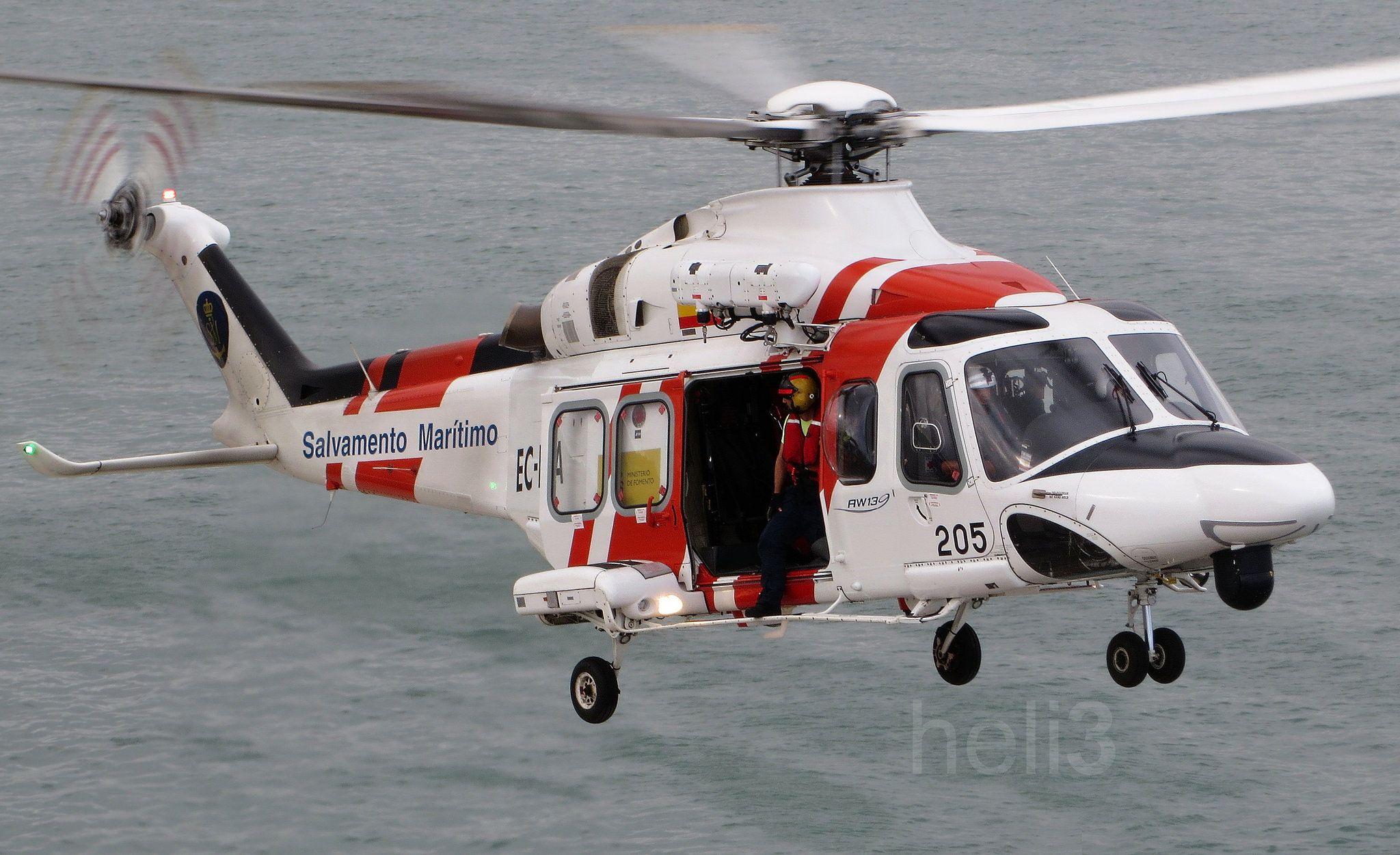 Elicottero 205 : Salvamento marítimo helimer aviation
