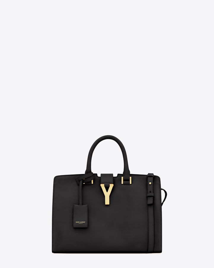 f7cf56b6e26a Saint Laurent Classic Small Cabas Y Bag In Black Leather  2