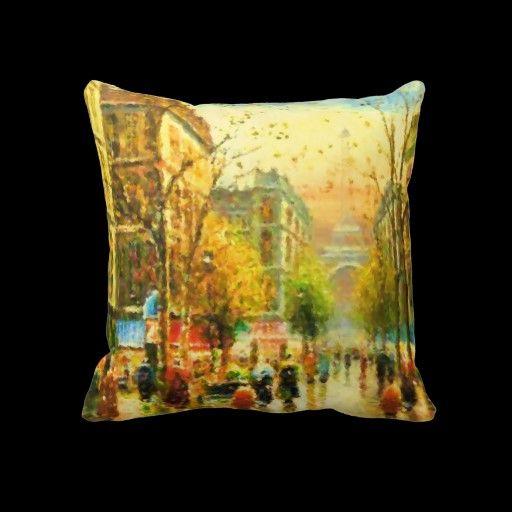 Sentimental Wedding Gift Ideas: Paris In The Rain Pillow