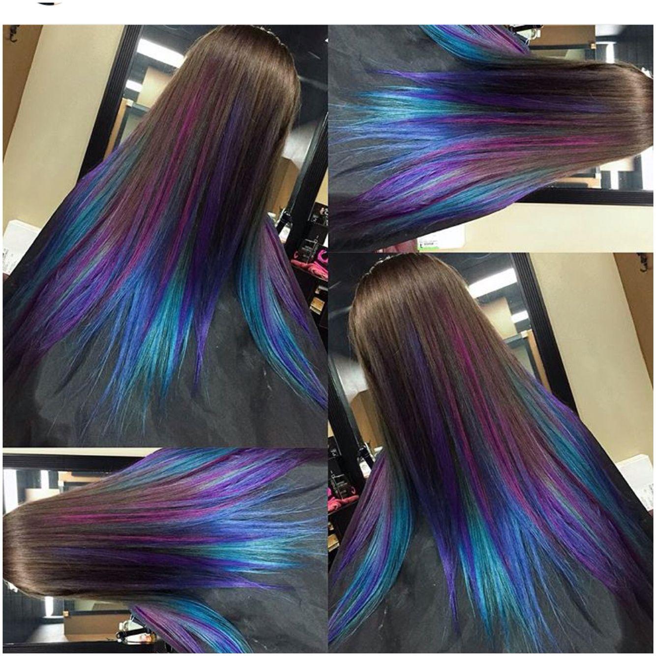 Peacock Hair Color Ideas For Clients Pinterest Peacock Hair