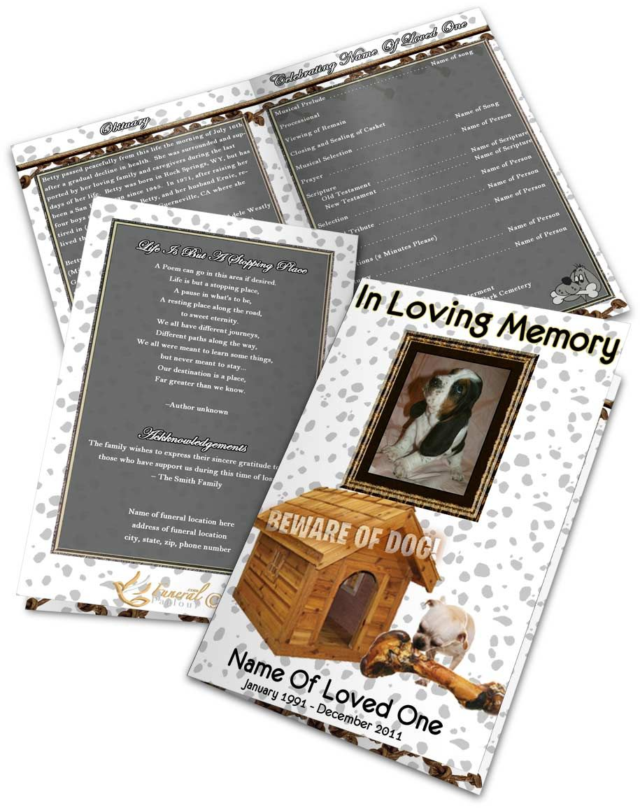 Funeral Program Templates | Program template, Template and Note cards
