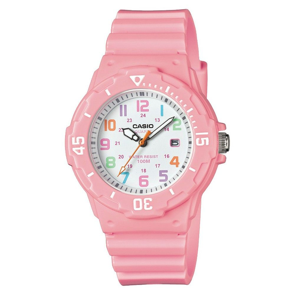 4e7d638e55ea Women s Dive Style Watch with Glossy Strap Pink (LRW200H-4B2VCF) - Casio
