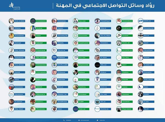 حسابات رواد وسائل التواصل الاجتماعي في مهنة المحاسبه طبقا لهيئة السعودية للمحاسبين القانونيين Socpa
