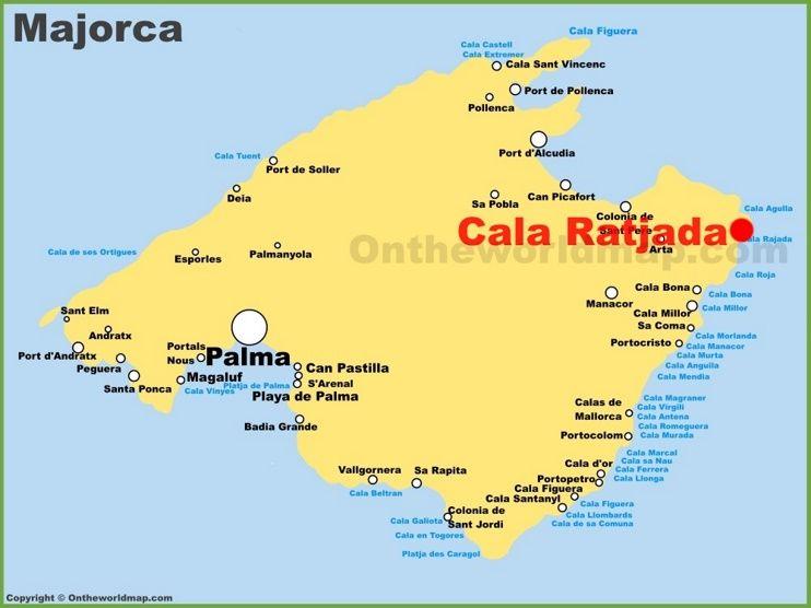 Cala Ratjada location on the Majorca map | Maps in 2019 | Balearic ...