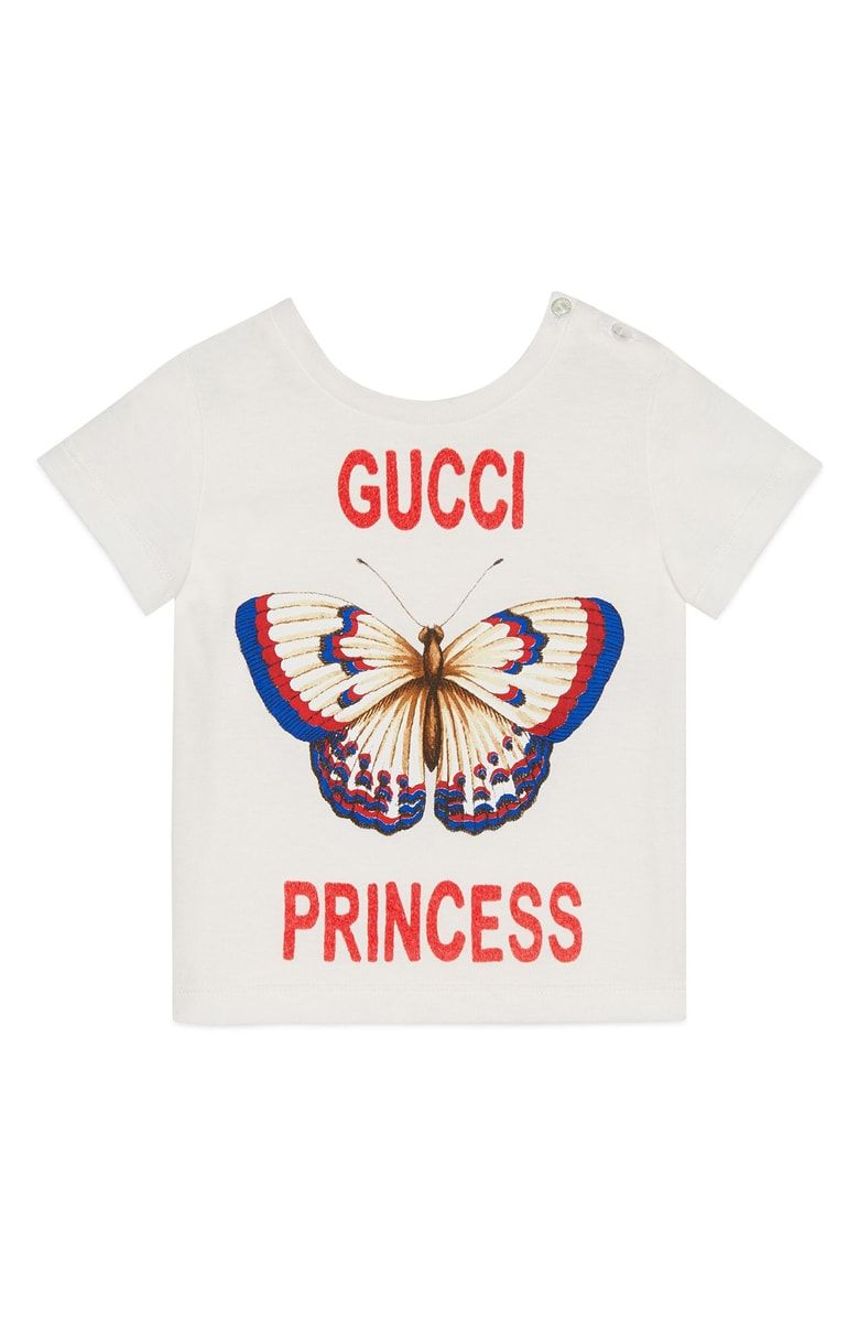 72052acd Free shipping and returns on Gucci Butterfly Princess Graphic Tee (Baby  Girls) at Nordstrom.com. Perfect for the princess in your life, this  all-cotton tee ...