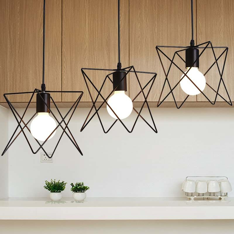 Vintage Pendant Light Industrial E27 Lamp Dining Room Kitchen