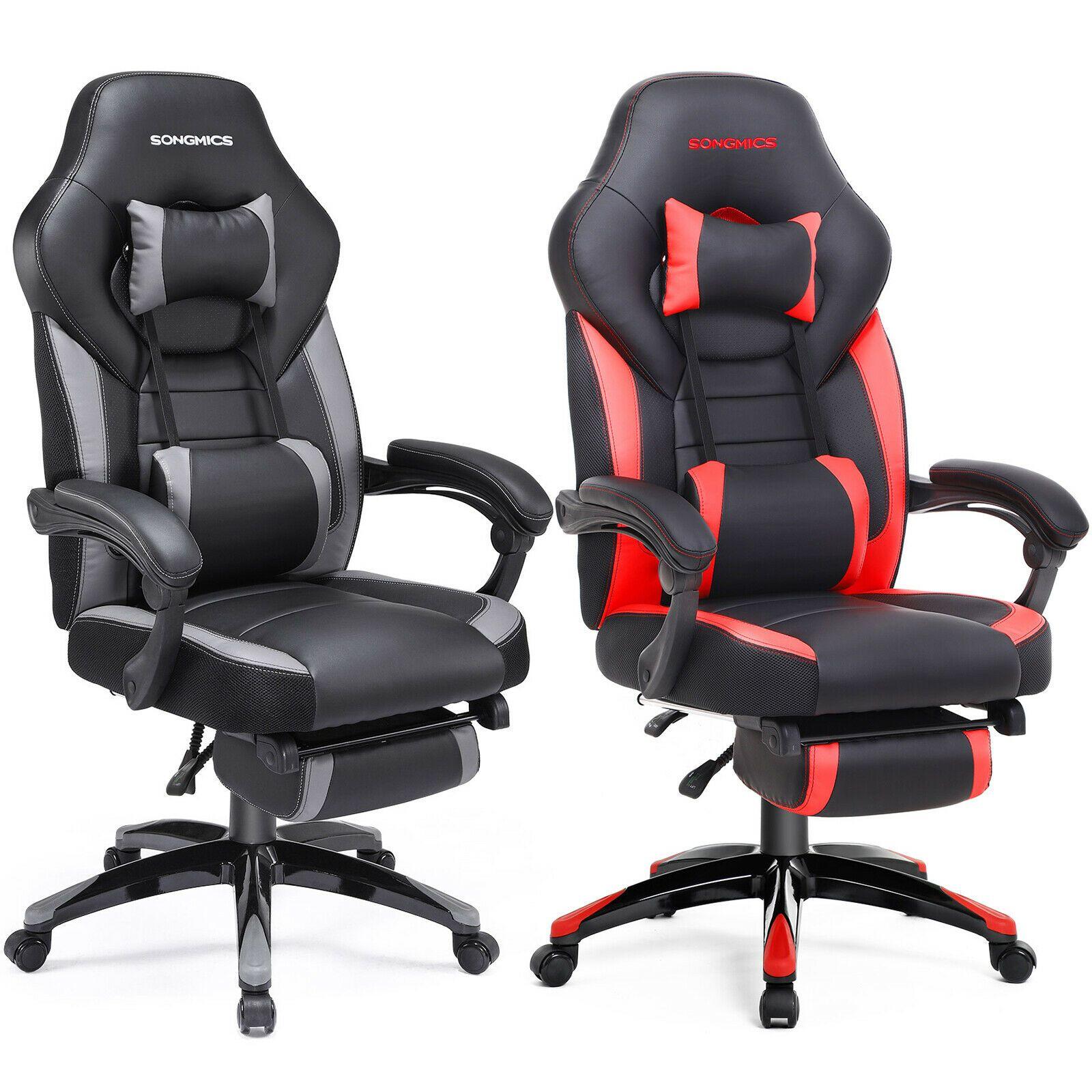 Burostuhl Gamingstuhl Schreibtischstuhl Chefsessel Mit Fussstutze Mit Kopfstutze Ebay In 2020 Schreibtischstuhl Burostuhl Fussstutze