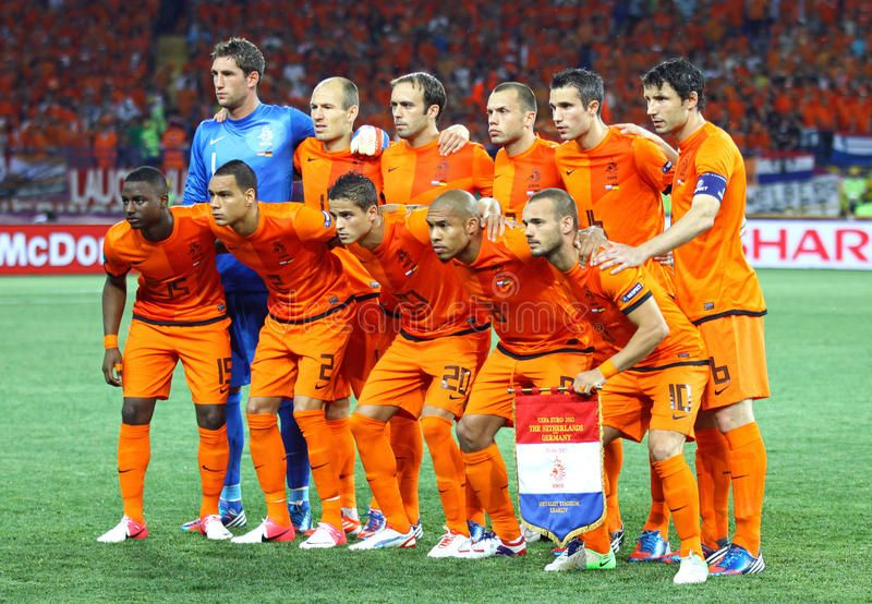 Netherlands National Football Team Kharkiv Ukraine 13 June 2012 Netherland Sponsored Kharkiv National Football Football Team National Football Teams