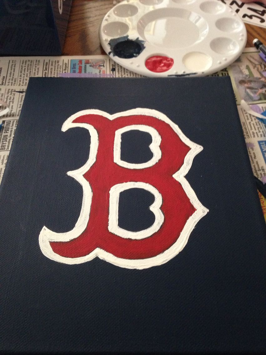 Boston Red Sox Canvas Boston Red Sox Gifts Boston Red Sox Room