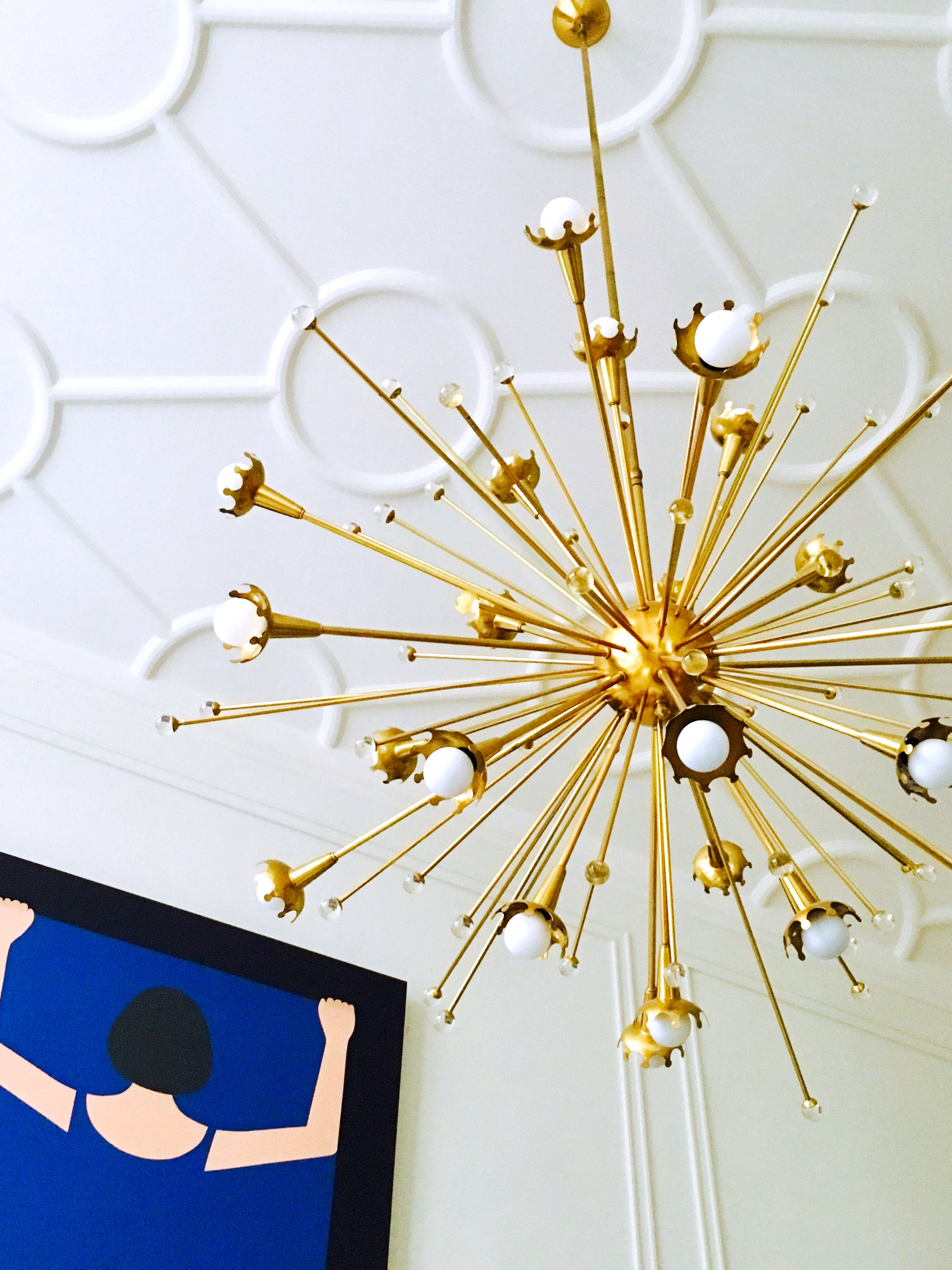 Feeling Flashy With The Jonathan Adler Giant Sputnik Chandelier And A Geoff  McFetridge.