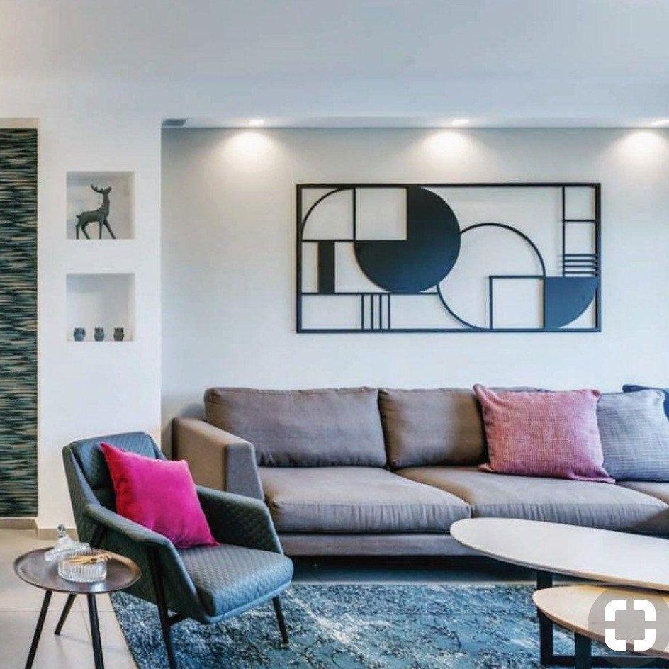 Framed Metal Art Metal Home Decor Abstract Wall Decor Interior