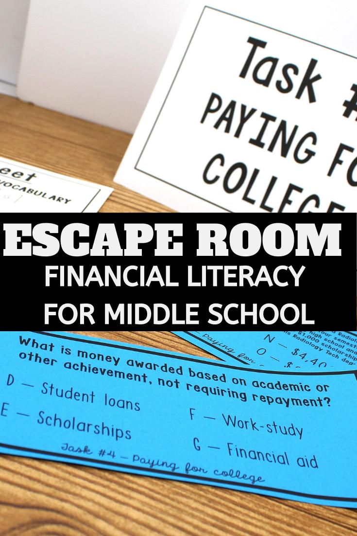 Financial Literacy Breakout Activity Financial Literacy Middle School Math Review Financial Literacy Activities [ 1102 x 735 Pixel ]