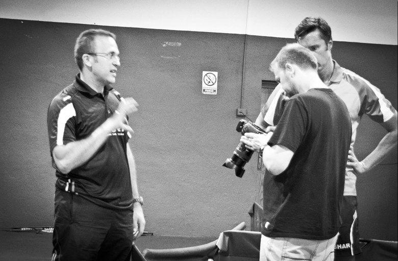 V Sánchez y V Samsonov, el alma de vsport, siempre trabajando para el tenis de mesa #vladimirsamsonov #victorsanchez #tenismesa #vsport
