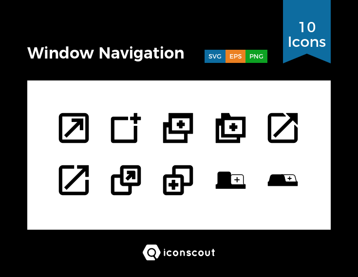 Download Window Navigation Icon Pack Available In Svg Png Eps Ai Icon Fonts Icon Pack Icon Font Navigation
