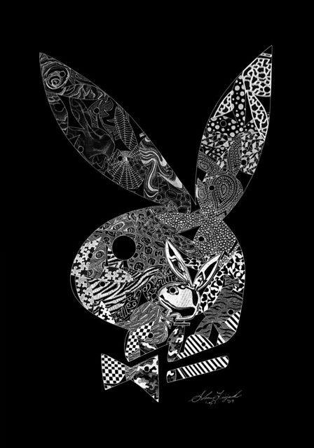 Playboy Bunny Logo (hand engraving) by artist: Shawn Lisjack (Exotic Engravings)
