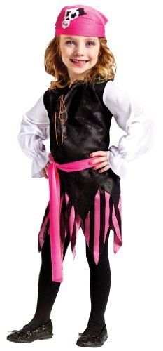Toddler Girls Caribbean Pirate Costume size 3T-4T by Fun World. $10.99. Save  sc 1 st  Pinterest & Toddler Girls Caribbean Pirate Costume size 3T-4T by Fun World ...