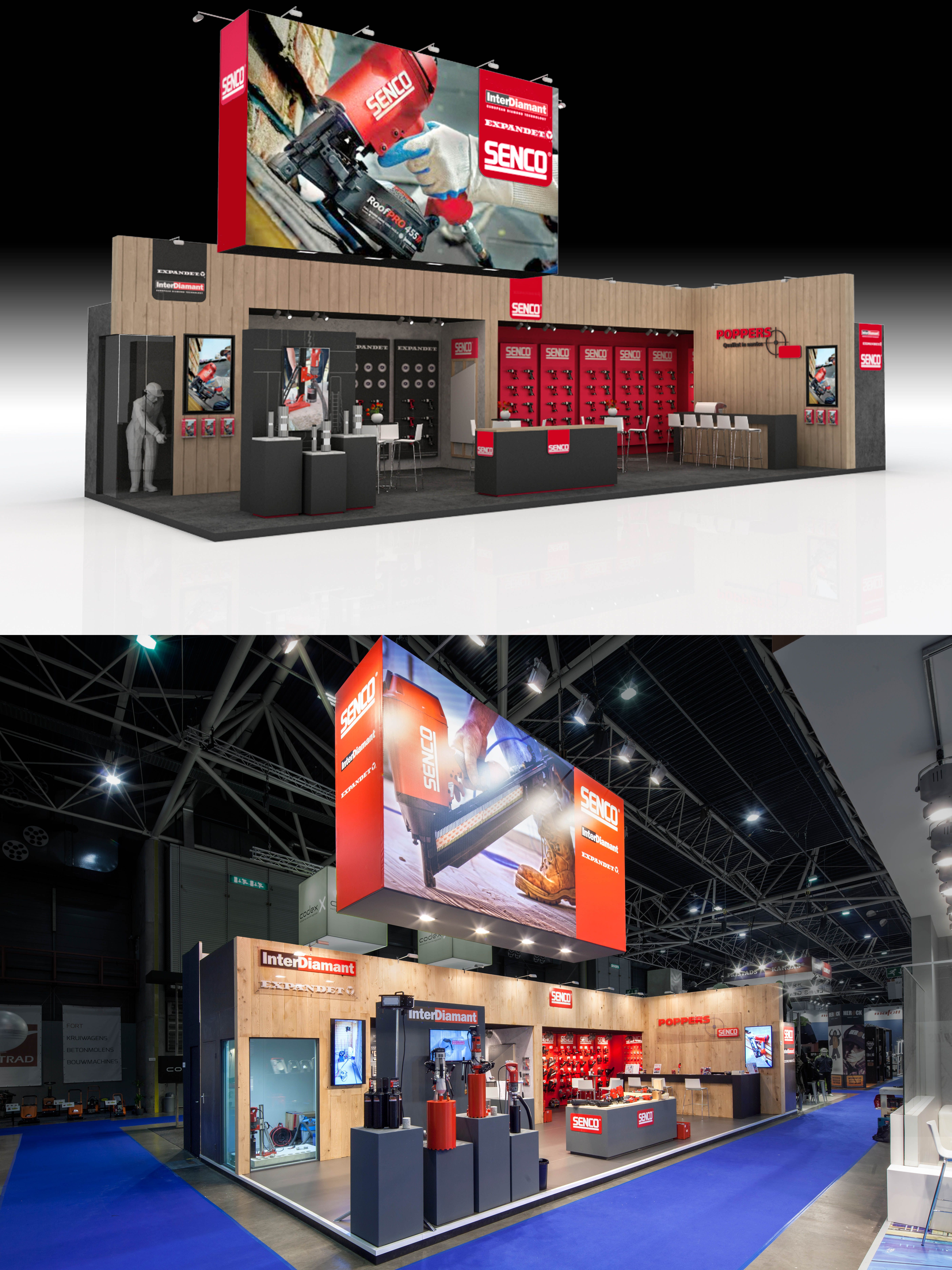Exhibition Stand Builders Netherlands : Exhibition design and booth from the inside stand building