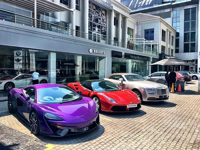 Instagram media by daytona_jhb - Another beautiful day at #Daytona! Pop in for a coffee and chat to one of our sales specialists! #SouthAfrica #McLaren #Ferrari #RollsRoyce